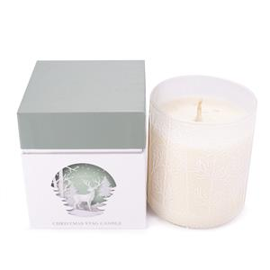 Painted Stag Candle , Snow Flake Fragrance with Snow Quartz ATGW 10cts