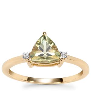Csarite® Ring with Diamond in 10k Gold 1.26cts