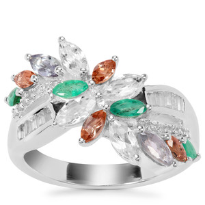 Kaleidoscope Gemstones Ring in Sterling Silver 1.81cts