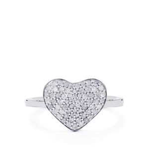 1/2ct Diamond Sterling Silver Ring