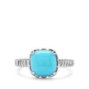 2.62ct Sleeping Beauty Turquoise Sterling Silver Orbs of Light Ring