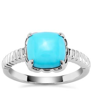 Sleeping Beauty Turquoise Orbs of Light Ring in Sterling Silver 2.62cts