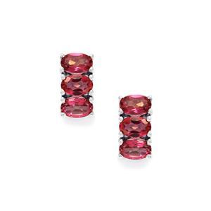 3.21ct Mystic Pink Topaz Sterling Silver Earrings