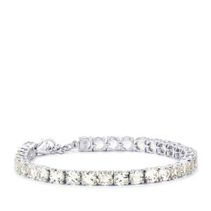 20.15ct White Topaz Sterling Silver Bracelet