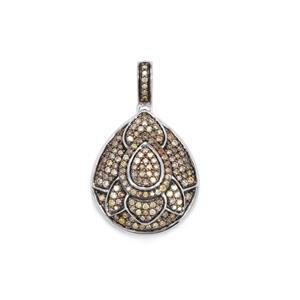 3/4ct Multi-Colour Diamond Sterling Silver Pendant