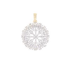 Diamond Pendant in 9K Gold 1cts