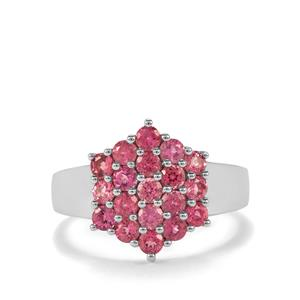 Pink Tourmaline Ring in Sterling Silver 1.16cts