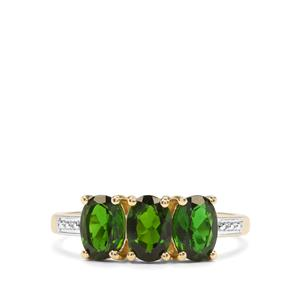 Chrome Diopside Ring in 10k Gold 2.17cts
