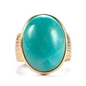 Amazonite Sarah Bennett Ring in Sterling Silver 14.88cts