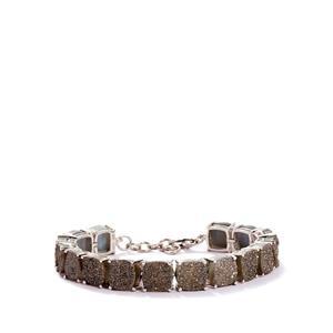 64.01ct Grey Drusy Sterling Silver Bracelet