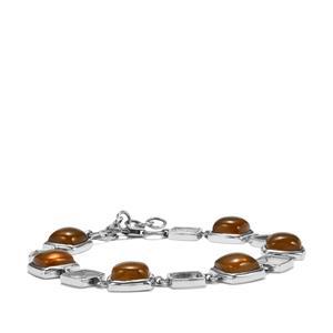 American Fire Opal Bracelet in Sterling Silver 17.65cts