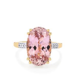 Mawi Kunzite & Diamond 18K Gold Lorique Ring MTGW 8.89cts
