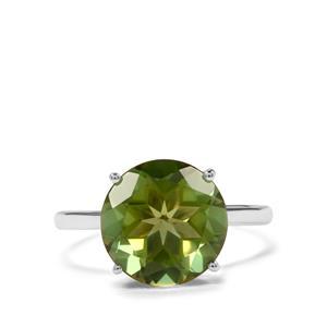 4.68ct Fern Green Quartz Sterling Silver Ring