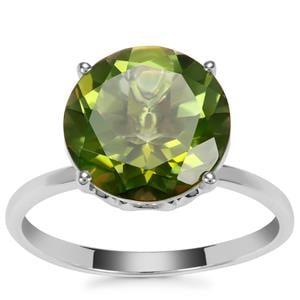 Fern Green Quartz Ring in Sterling Silver 4.68cts