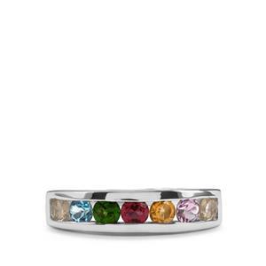 1.30ct Kaleidoscope Gemstones Sterling Silver Ring