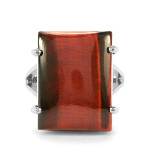 Red Tiger's Eye Ring in Sterling Silver 21cts