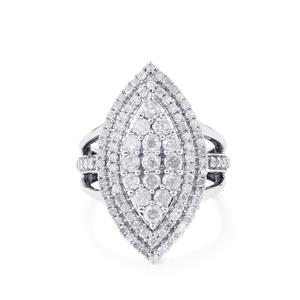 Diamond Ring in Sterling Silver 1.90ct