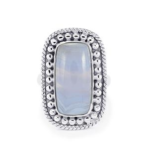 9.32ct Blue Lace Agate Sterling Silver Aryonna Ring