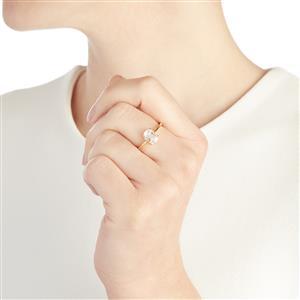1.70ct Ice Kunzite 10K Gold Ring