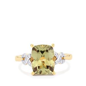 Csarite® & Diamond 18K Gold Ring MTGW 3.71cts