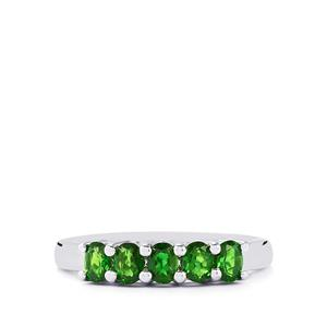 0.87ct Chrome Diopside Sterling Silver Ring