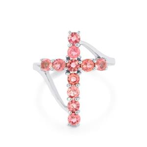 1.36ct Pink Tourmaline Sterling Silver Ring