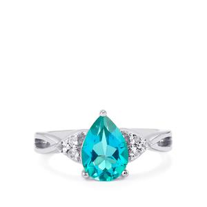 Batalha Topaz Ring with White Topaz in Sterling Silver 2.35cts