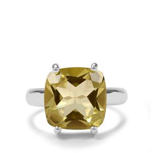 6.50ct Lemon Quartz Sterling Silver Aryonna Ring