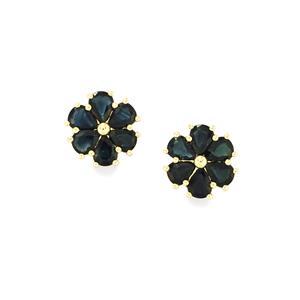 Australian Blue Sapphire Earrings in 9K Gold 3.21cts