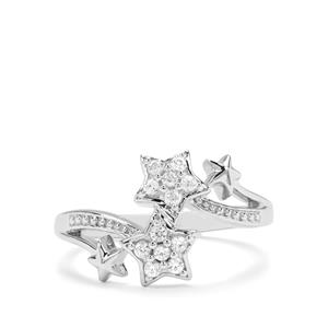 0.28ct Ratanakiri Zircon Sterling Silver Star Ring