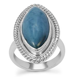 Bengal Blue Opal Ring in Sterling Silver 6.30cts