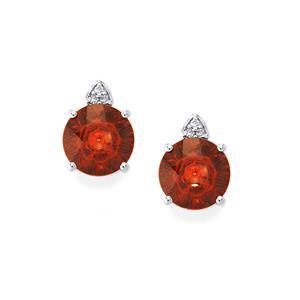 Lehrer QuasarCut Rajasthan Garnet & Diamond 9K White Gold Earrings ATGW 4.42cts