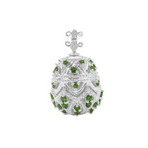 Chrome Diopside Pendant in Sterling Silver 2.67cts