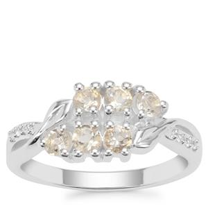 Serenite Ring with White Zircon in Sterling Silver 0.70ct
