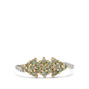 Alexandrite & Diamond 9K Gold Ring ATGW 0.52cts
