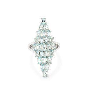 4.86ct Espirito Santo Aquamarine Sterling Silver Ring