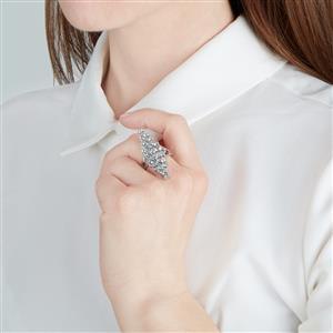Espirito Santo Aquamarine Ring in Sterling Silver 4.86ct