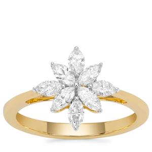 Diamond Ring in 18K Gold 0.79cts