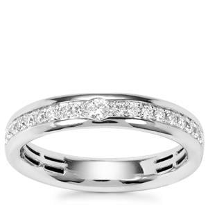 Diamond Ring in Platinum 950 0.26ct