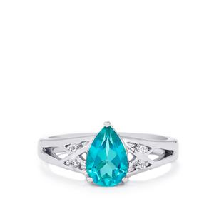 Batalha Topaz Ring with White Topaz in Sterling Silver 1.60cts