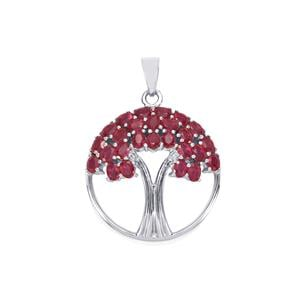 Malagasy Ruby Pendant in Sterling Silver 7.07cts (F)