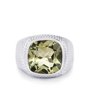 6.59ct Prasiolite Sterling Silver Ring