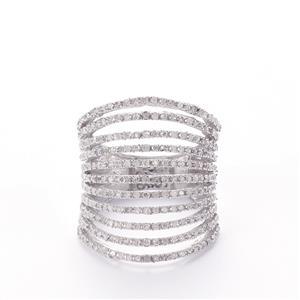 Diamond Sterling Silver Ring MTGW 1.10cts