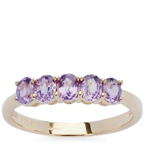 Natural Purple Sapphire Ring in 9K Gold 1.04cts
