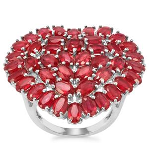 Malagasy Ruby Ring in Sterling Silver 15.48cts (F)