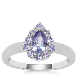 Tanzanite Ring in Sterling Silver 1.00cts