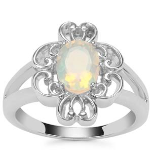 Ethiopian Opal Ring in Sterling Silver 0.78ct