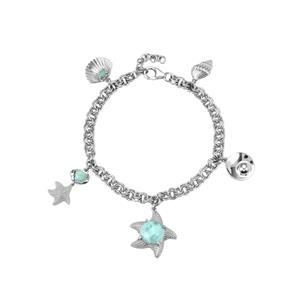 Larimar Bracelet in Sterling Silver 4.37cts