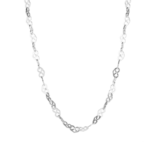 """30"""" Sterling Silver Altro Heart Link Necklace 6.34g"""