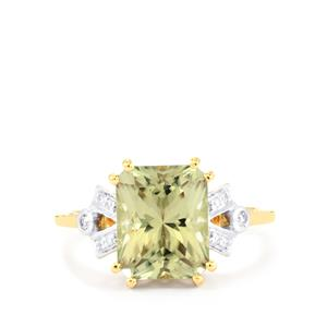 Csarite® Ring with Diamond in 18k Gold 3.91cts
